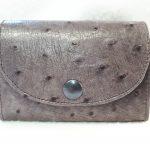 porte-monnaie et carte cuir autruche