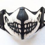 masque cuir skull face
